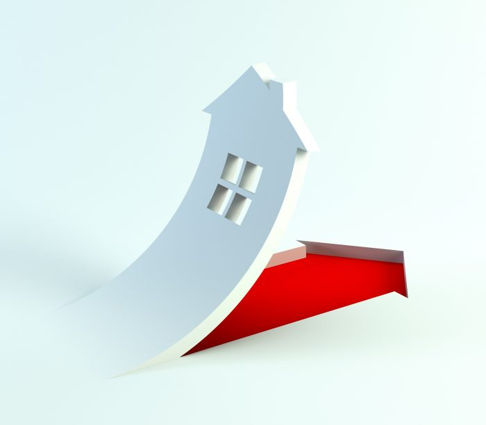 sign of symbolic house, 3d render
