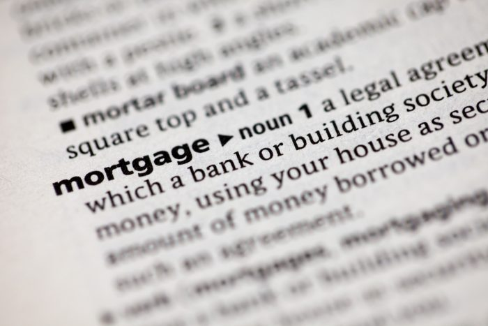 A dictionary with the word Mortgage in bold