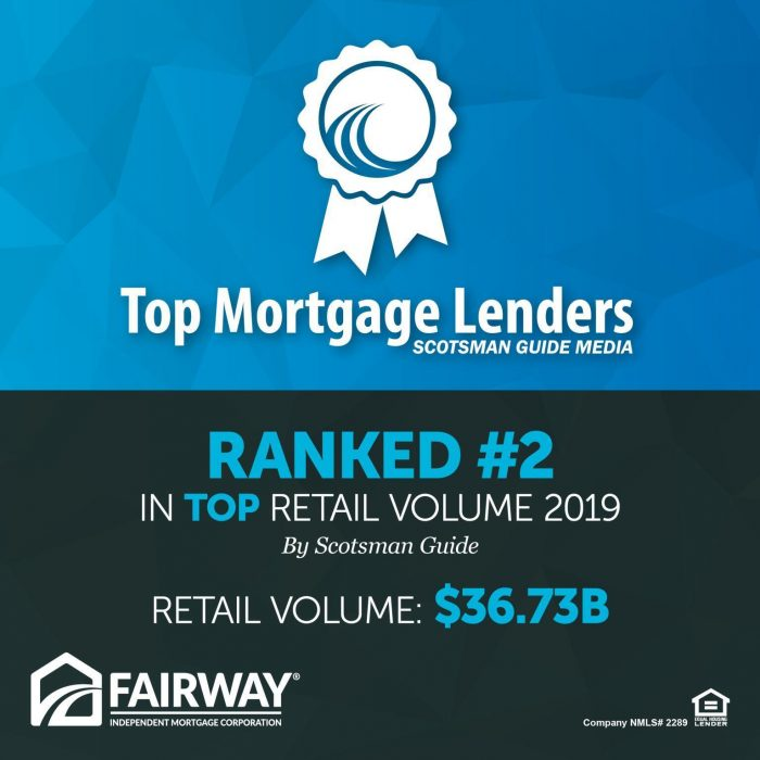 Fairway Independent Mortgage Corporation #2 in Top Retail Volume logo
