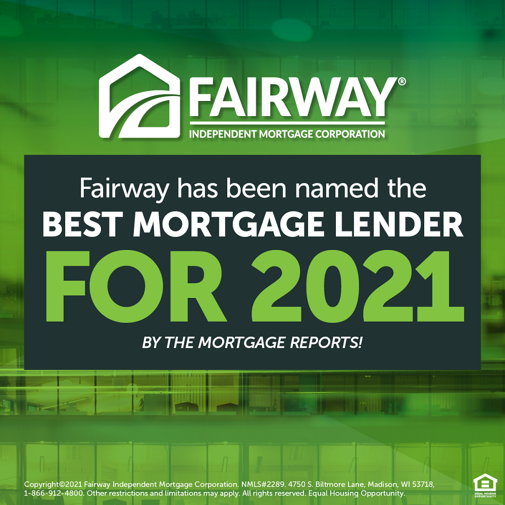 Fairway Named Best Mortgage Lender for 2021
